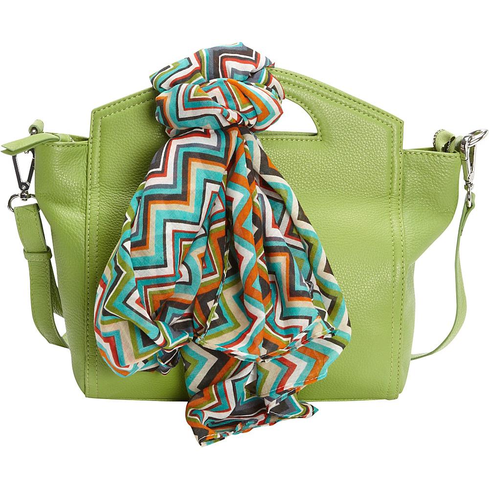 Hadaki Astrid Satchel Piquat Green - Hadaki Leather Handbags - Handbags, Leather Handbags