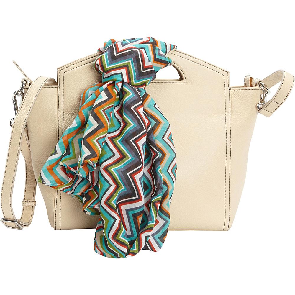 Hadaki Astrid Satchel Semolina - Hadaki Leather Handbags - Handbags, Leather Handbags
