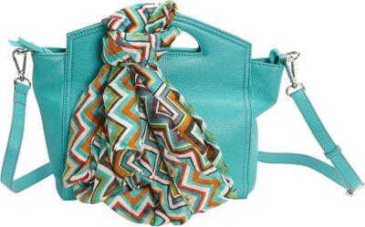 Hadaki Astrid Satchel Viridian Green - Hadaki Leather Handbags