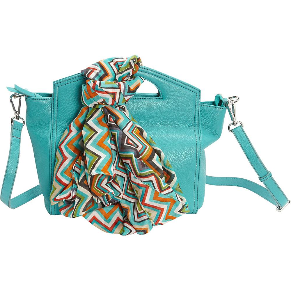 Hadaki Astrid Satchel Viridian Green - Hadaki Leather Handbags - Handbags, Leather Handbags