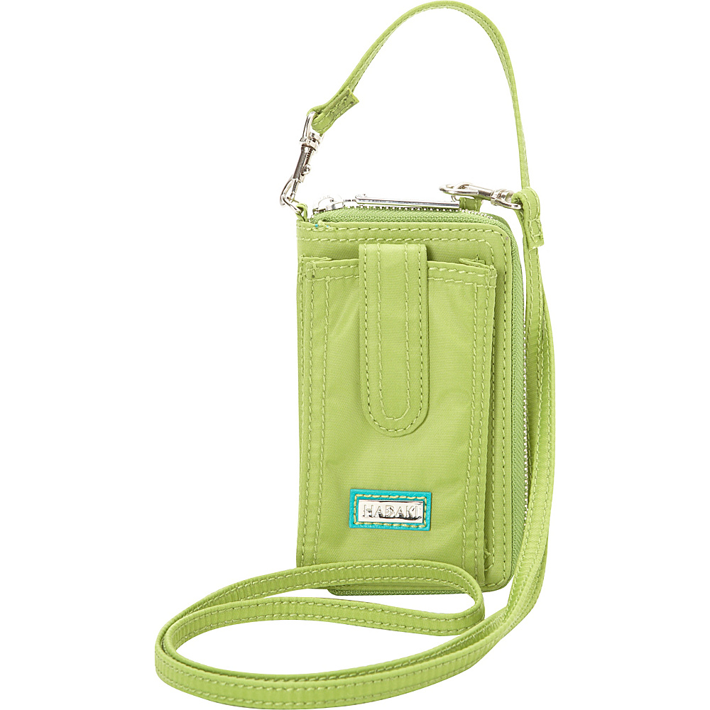 Hadaki Nylon Essentials Cross body Piquat Green - Hadaki Fabric Handbags - Handbags, Fabric Handbags