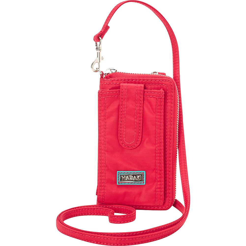 Hadaki Nylon Essentials Cross body Tango Red - Hadaki Fabric Handbags - Handbags, Fabric Handbags