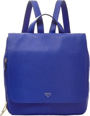 Fossil Preston Backpack Sapphire - Fossil Leather Handbags