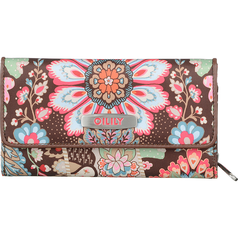 Oilily Travel Large Wallet Brown Oilily Women s Wallets