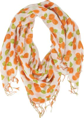 Keds Square Scarf with Fringe Citrus Painterly Fruit - Keds Hats/Gloves/Scarves