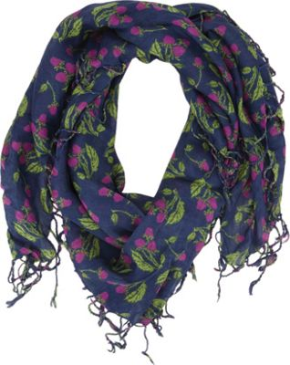 Keds Keds Square Scarf with Fringe Dewberry Painterly Fruit - Keds Hats/Gloves/Scarves