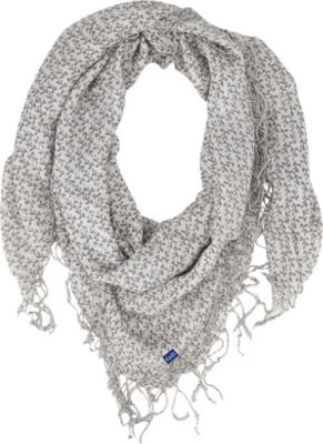 Keds Square Scarf with Fringe Gardenia Botanical Floral - Keds Hats/Gloves/Scarves