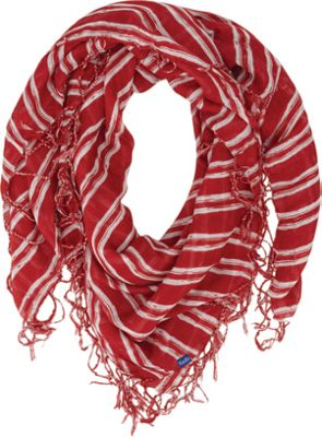 Keds Keds Square Scarf with Fringe Rococco Red - Keds Hats/Gloves/Scarves