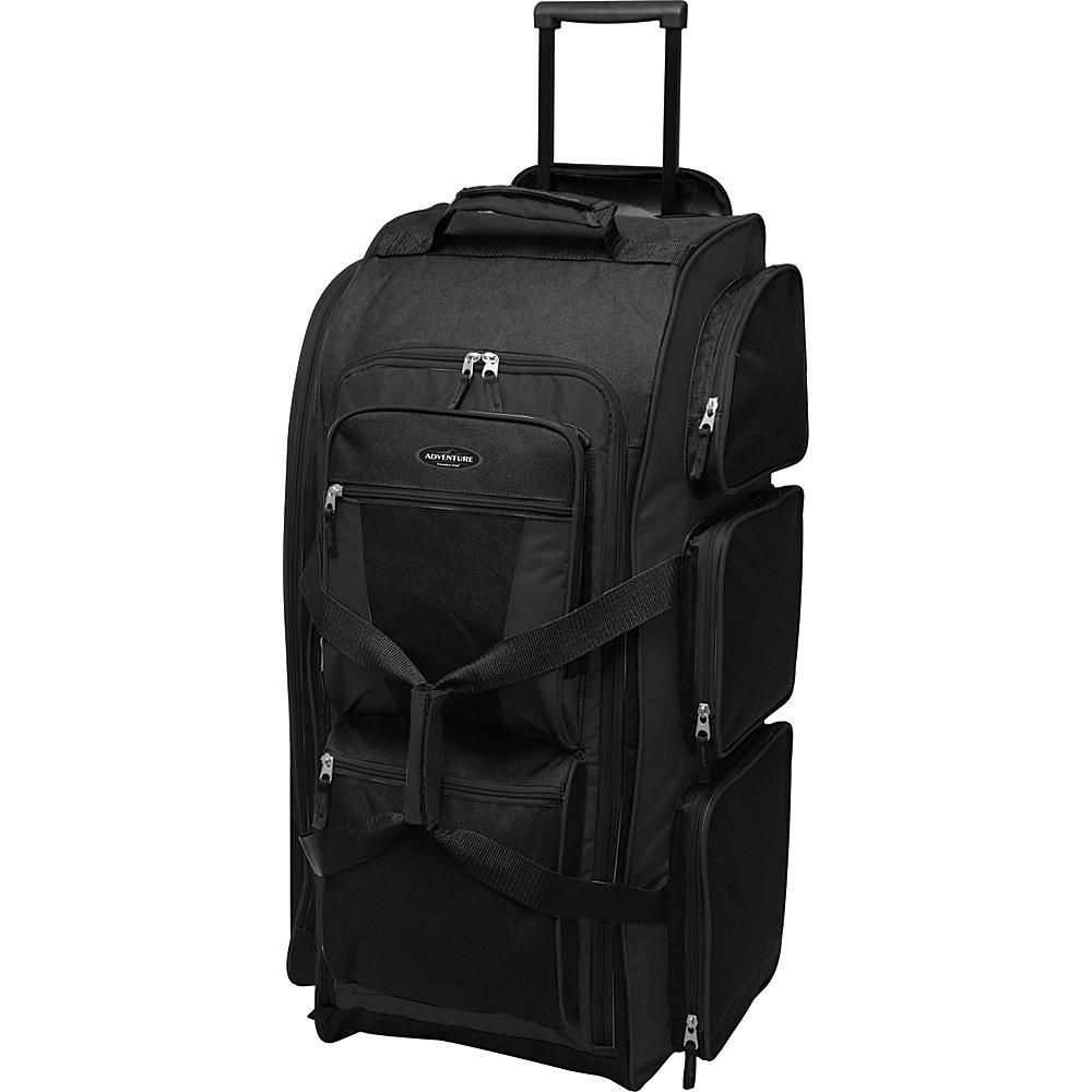 "Travelers Club Luggage 30"" Multi-Pocket Upright Duffel - Exclusive Colors Black - Travelers Club Luggage Rolling Duffels"