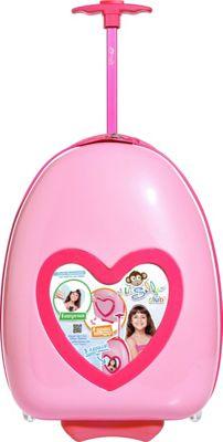 Travelers Club Luggage 16 inch Selfie Kids' Personalized Carry-On Salmon Pink - Travelers Club Luggage Hardside Carry-On