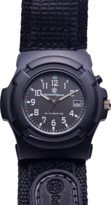 Smith & Wesson Watches GLOW Lawman Watch with Nylon Strap Black - Smith & Wesson Watches Watches