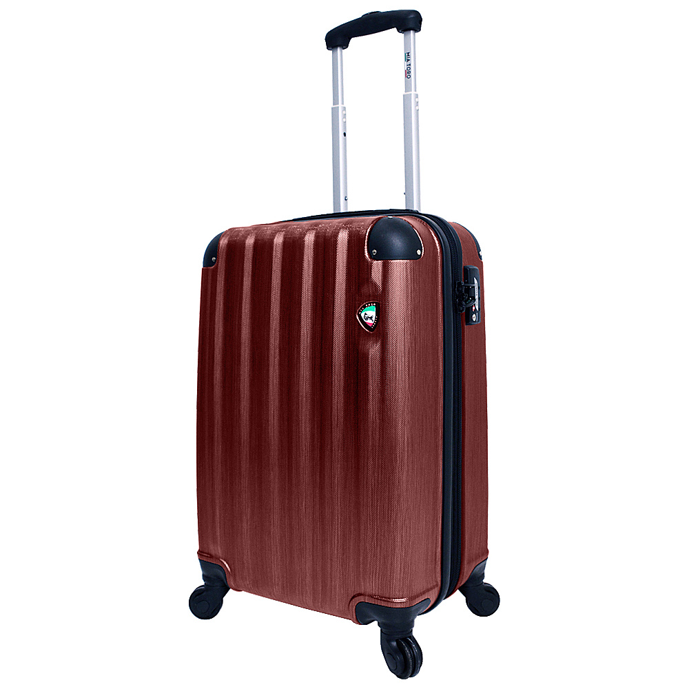 Mia Toro ITALY Lega Spazzolato Hardside 21 Spinner Carry On Burgundy Mia Toro ITALY Hardside Carry On