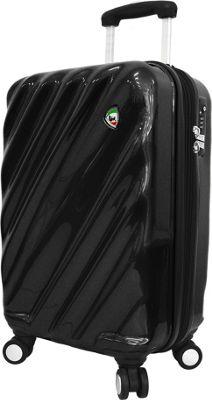 Mia Toro ITALY Onda Fusion Hardside 24 inch Spinner Black - Mia Toro ITALY Hardside Checked
