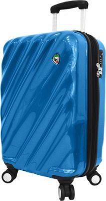 Mia Toro ITALY Onda Fusion Hardside 24 inch Spinner Blue - Mia Toro ITALY Hardside Checked