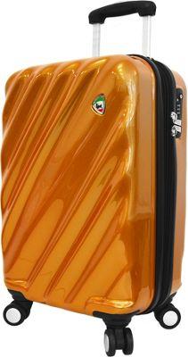 Mia Toro ITALY Onda Fusion Hardside 24 inch Spinner Orange - Mia Toro ITALY Hardside Checked