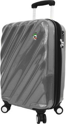 Mia Toro ITALY Onda Fusion Hardside 24 inch Spinner Grey - Mia Toro ITALY Hardside Checked