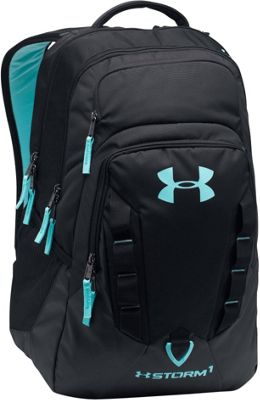 Under Armour Recruit Backpack Black/Black/Blue Infinity - Under Armour Business & Laptop Backpacks