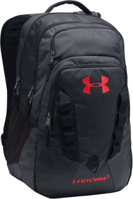 Under Armour Recruit Backpack Black/Black/Red - Under Armour Business & Laptop Backpacks