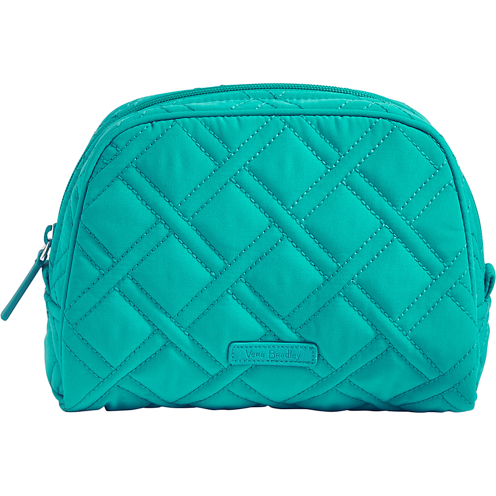 Vera Bradley Medium Zip Cosmetic - Solids Turquoise Sea - Vera Bradley Womens SLG Other - Women's SLG, Women's SLG Other