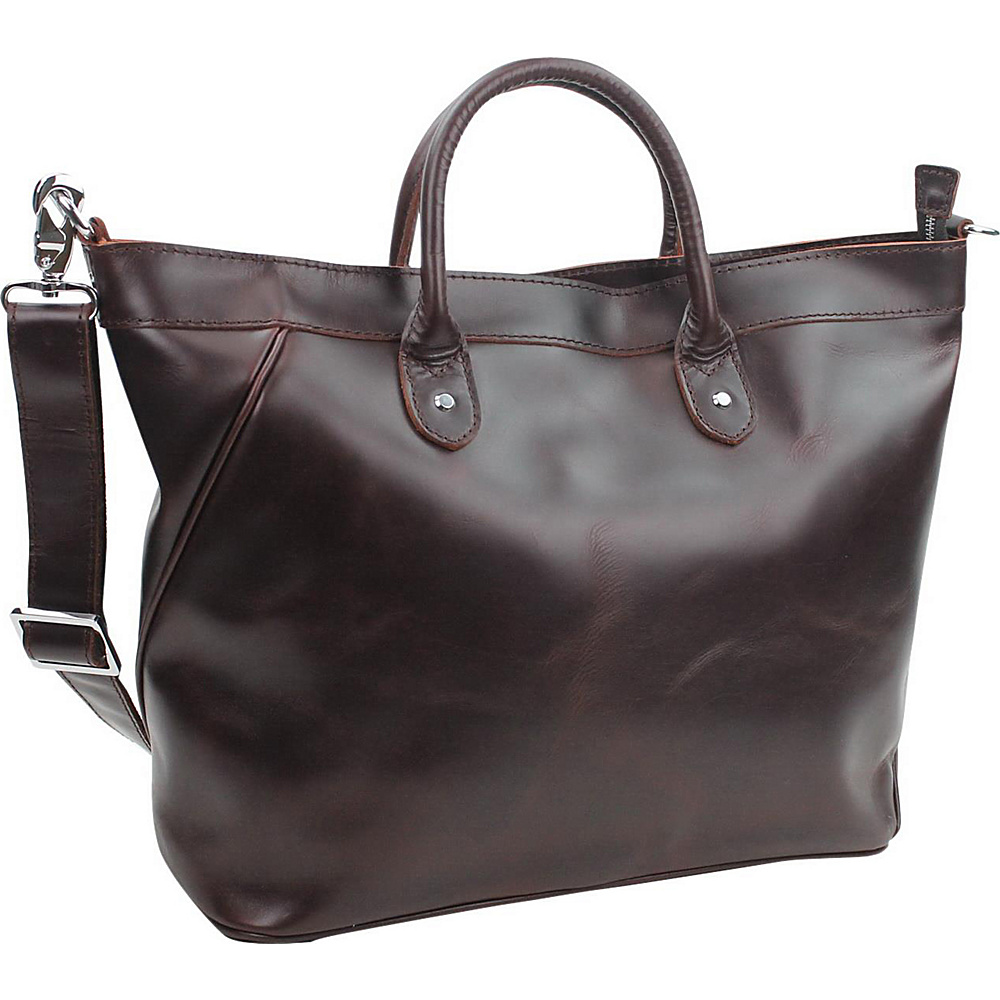 Vagabond Traveler 18 Large Leather Tote Wine Red - Vagabond Traveler Leather Handbags - Handbags, Leather Handbags