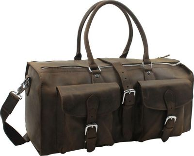 "Vagabond Traveler 21"" Overnight Leather Travel Duffle Bag..."