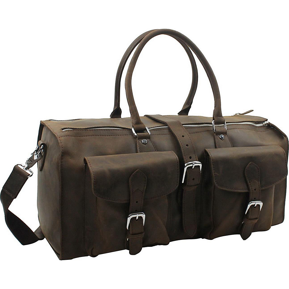 Vagabond Traveler 21 Overnight Leather Travel Duffle Bag Distress - Vagabond Traveler Rolling Duffels - Luggage, Rolling Duffels