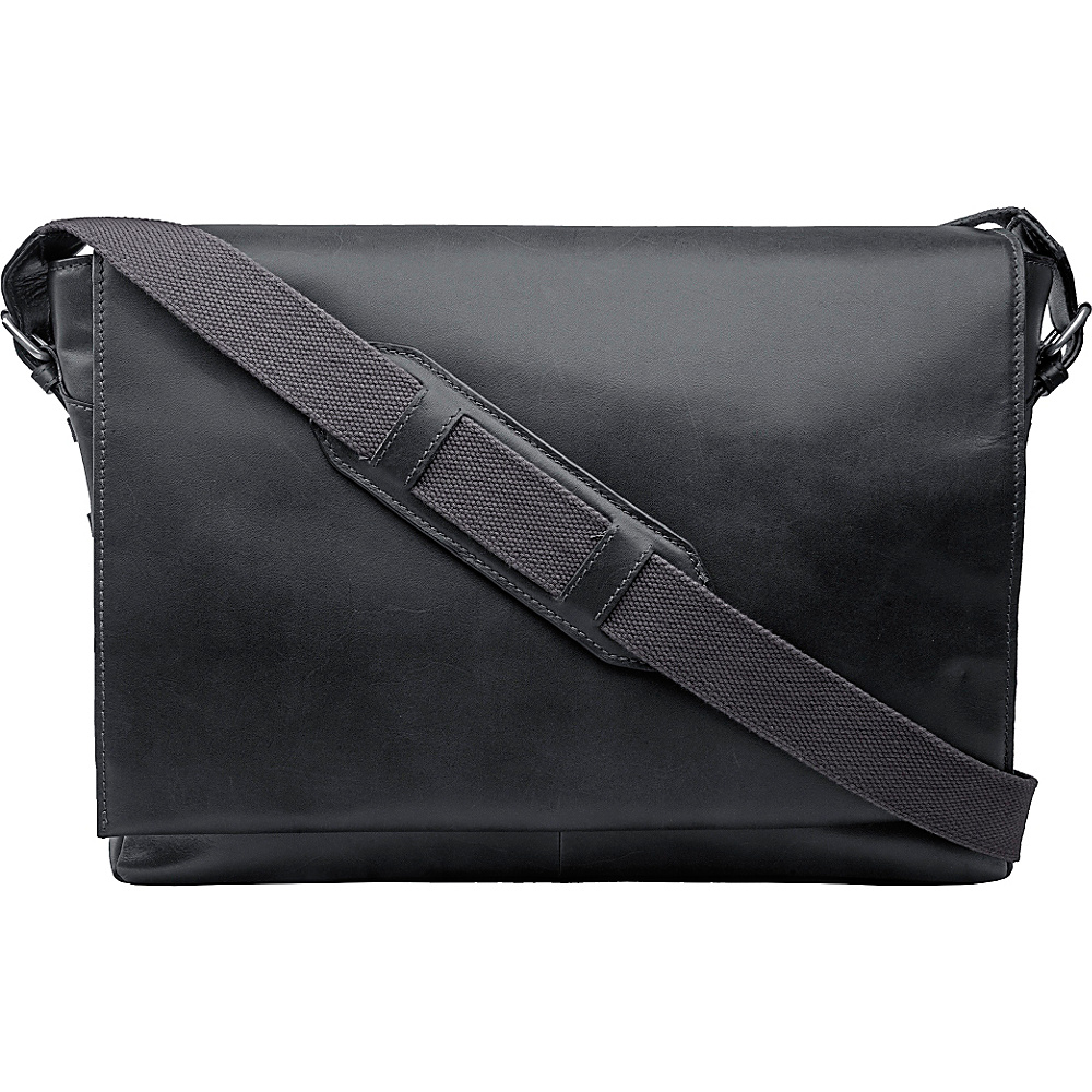 Hidesign Cooper Large Horizontal Messenger Black Hidesign Messenger Bags