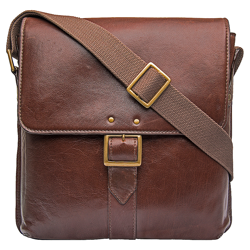 Hidesign Vespucci Medium Vertical Messenger Brown Hidesign Messenger Bags