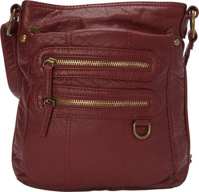 Ampere Creations The Willa Crossbody Burgundy - Ampere Creations Manmade Handbags