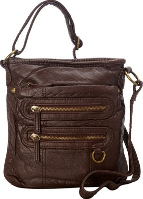Ampere Creations The Willa Crossbody Chocolate Brown - Ampere Creations Manmade Handbags
