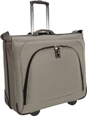 London Fog Cambridge 44 inch Wheeled Garment Bag Black White Houndstooth - London Fog Garment Bags