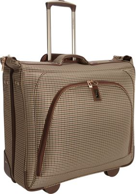 London Fog Cambridge 44 inch Wheeled Garment Bag Olive Plaid Houndstooth - London Fog Garment Bags