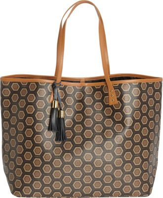 Image of b Luxe Large London Tote Mod Tortoise - b Luxe Manmade Handbags