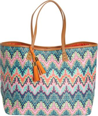 Image of b Luxe Large London Tote Calypso - b Luxe Manmade Handbags