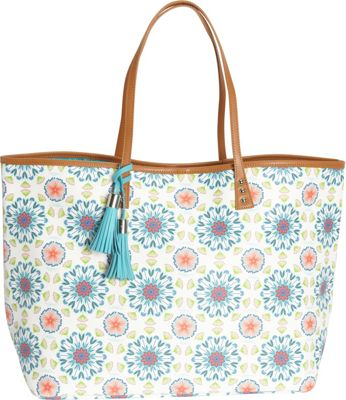 Image of b Luxe Large London Tote Bora Bora - b Luxe Manmade Handbags