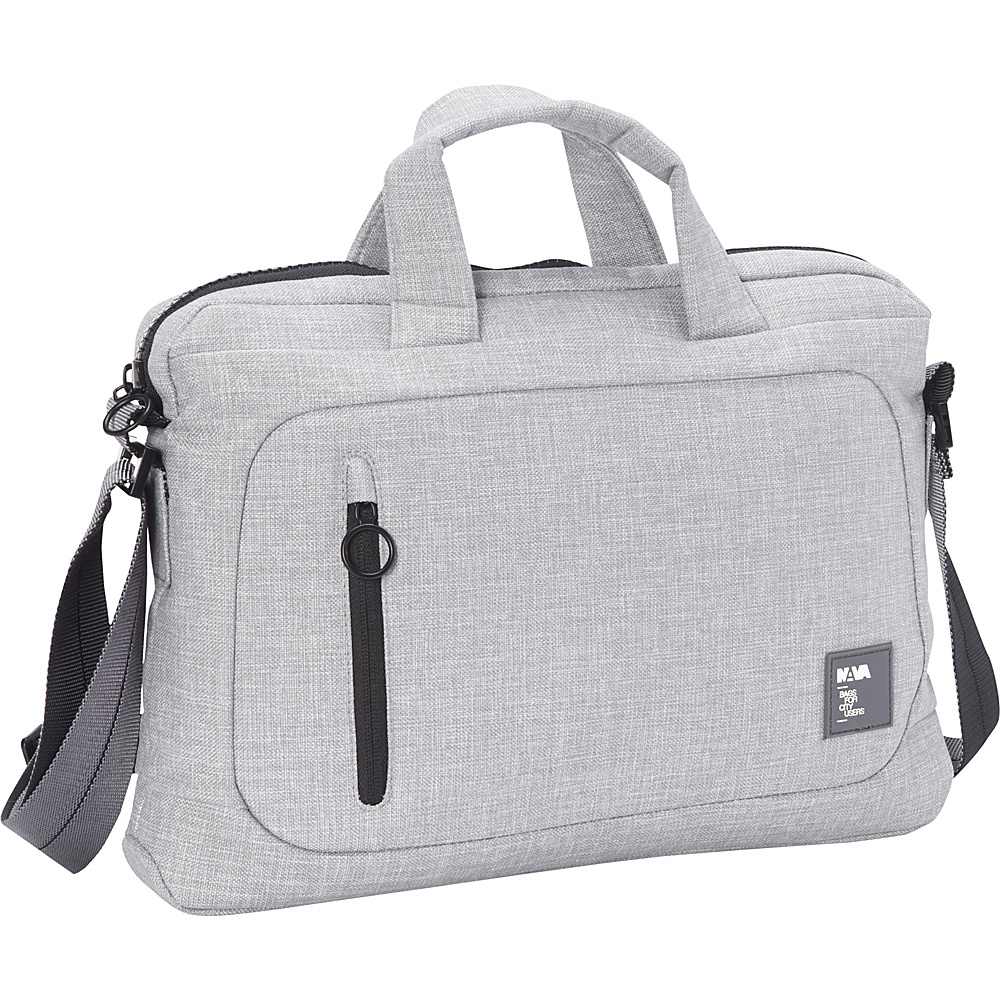 Nava Dot Com 2.0 Briefcase Slim Light Grey/Black - Nava Non-Wheeled Business Cases