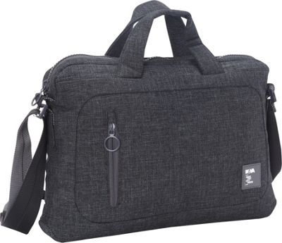 Nava Dot_Com 2.0 Briefcase Slim Black/Grey - Nava Non-Wheeled Business Cases