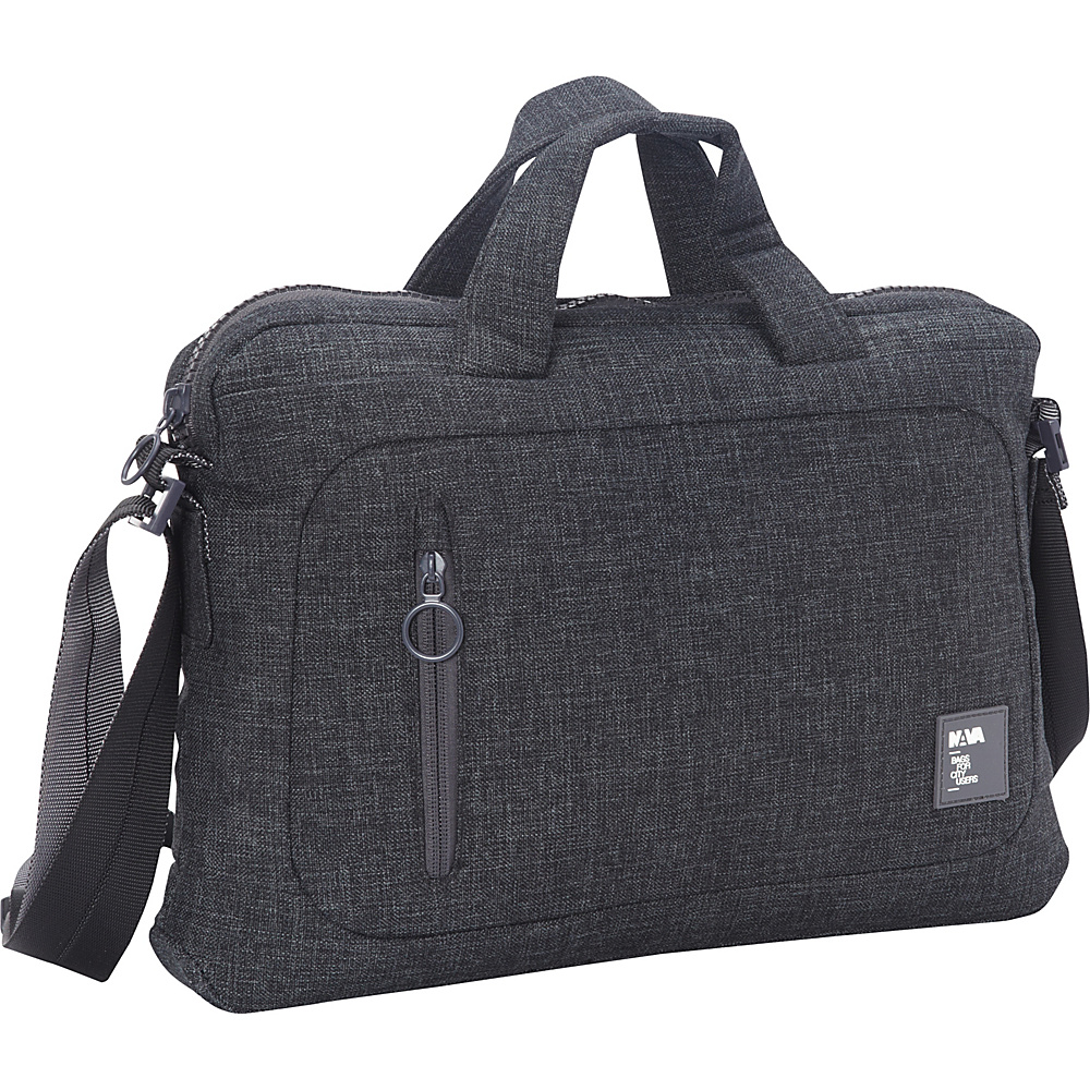 Nava Dot Com 2.0 Briefcase Slim Black/Grey - Nava Non-Wheeled Business Cases