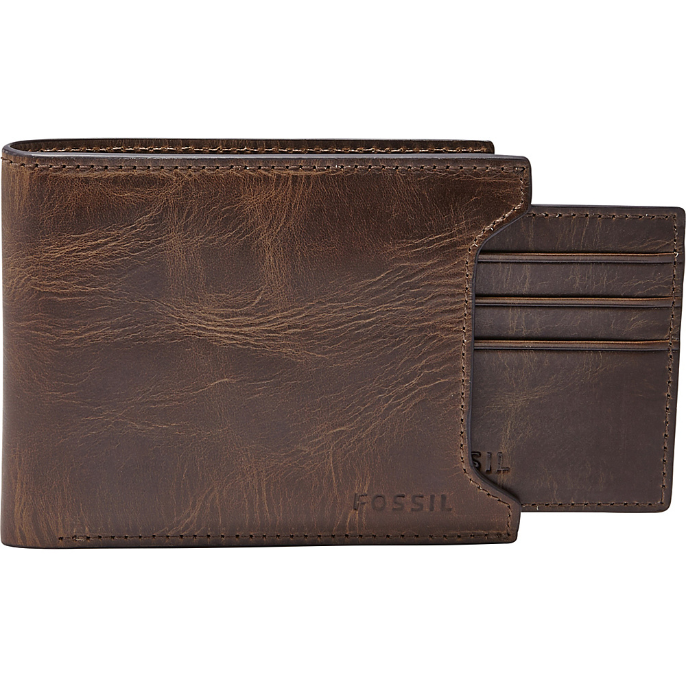 Fossil Derrick Sliding 2-in-1 Dark Brown - Fossil Mens Wallets - Work Bags & Briefcases, Men's Wallets