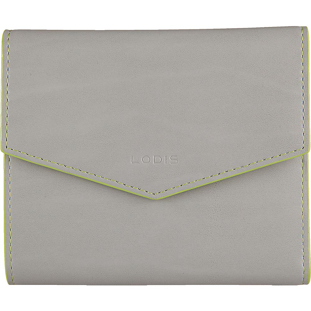 Lodis Audrey Premier Lana French Purse Dove/Lime - Lodis Womens Wallets - Women's SLG, Women's Wallets