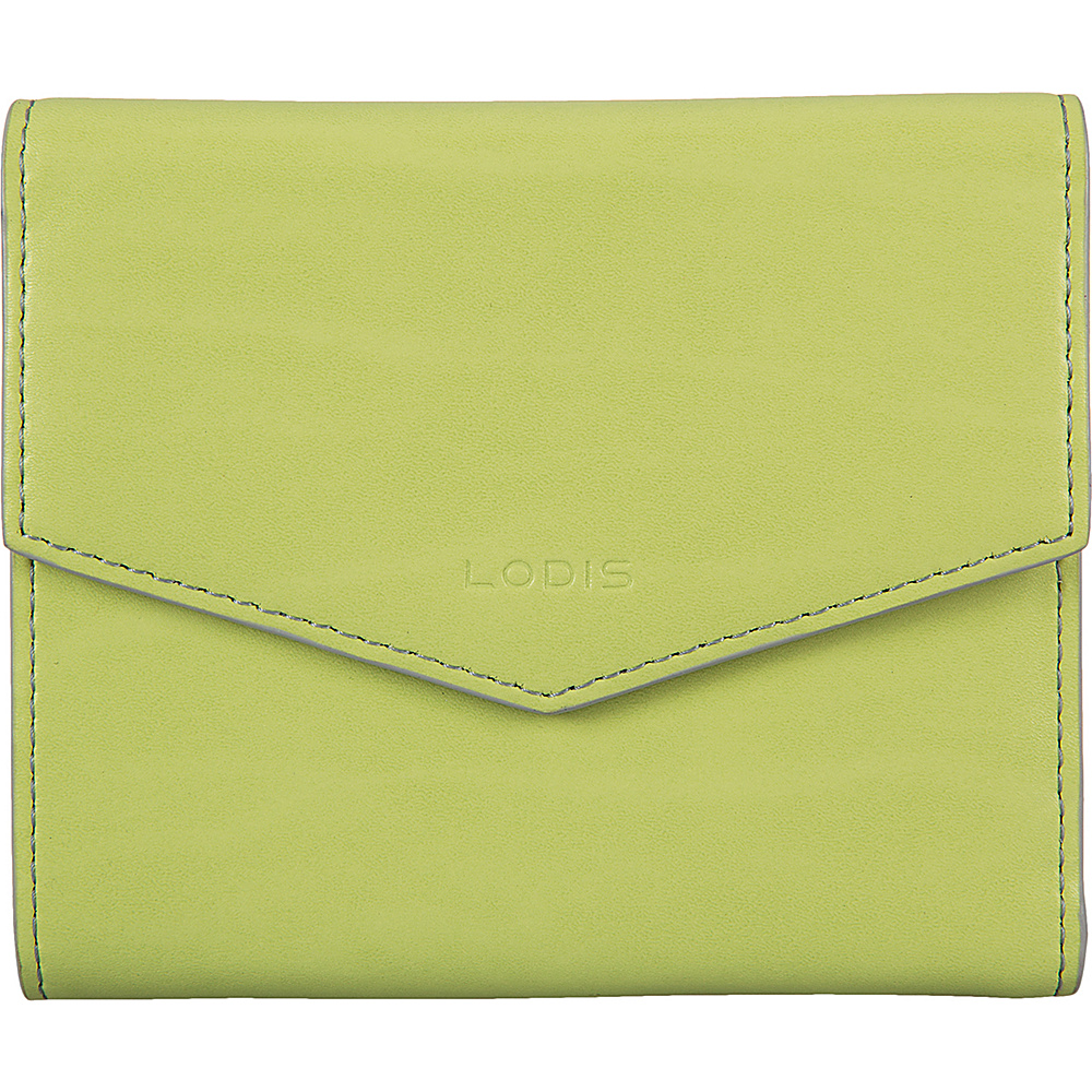 Lodis Audrey Premier Lana French Purse Lime/Dove - Lodis Womens Wallets - Women's SLG, Women's Wallets