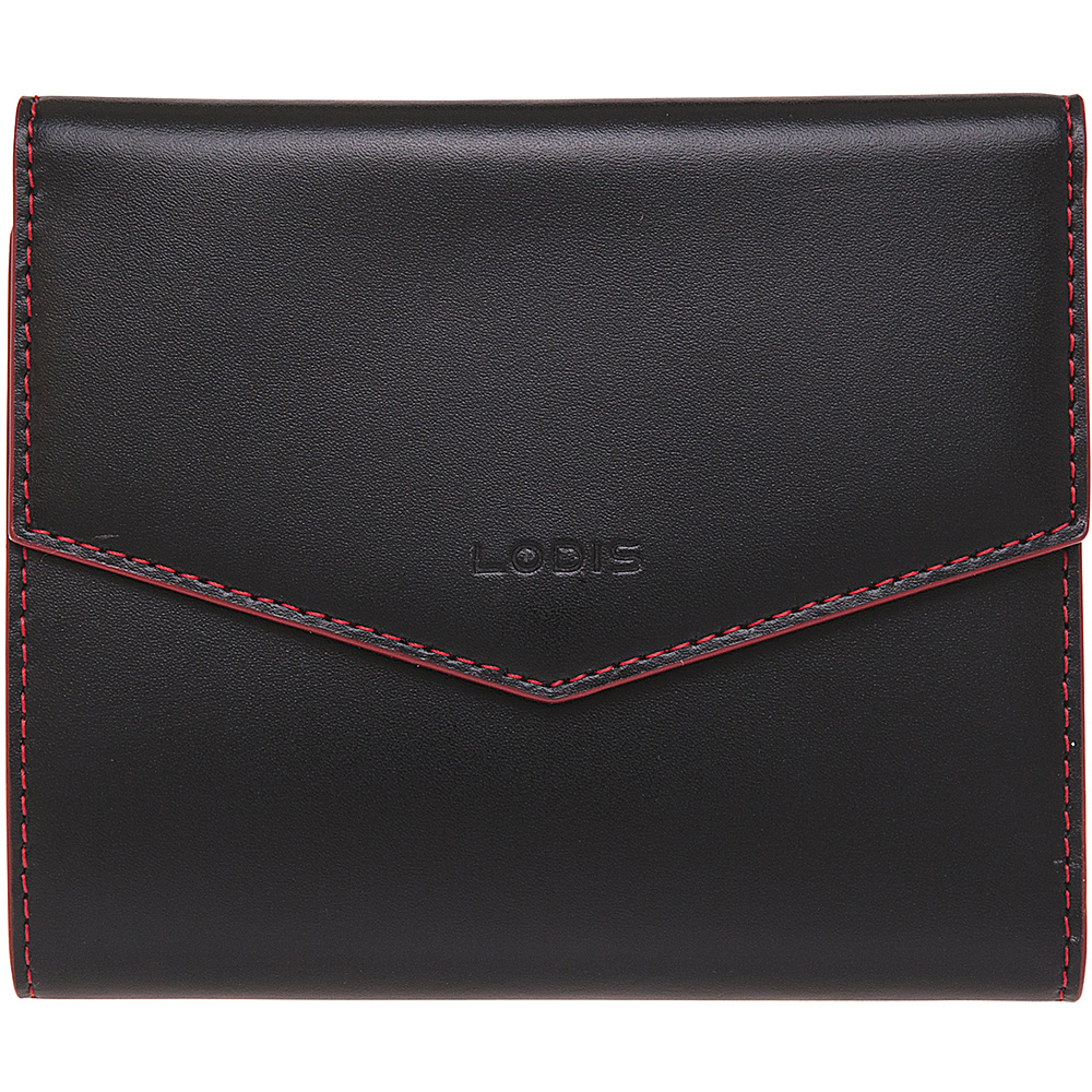 Lodis Audrey Premier Lana French Purse Black Red Lodis Women s Wallets