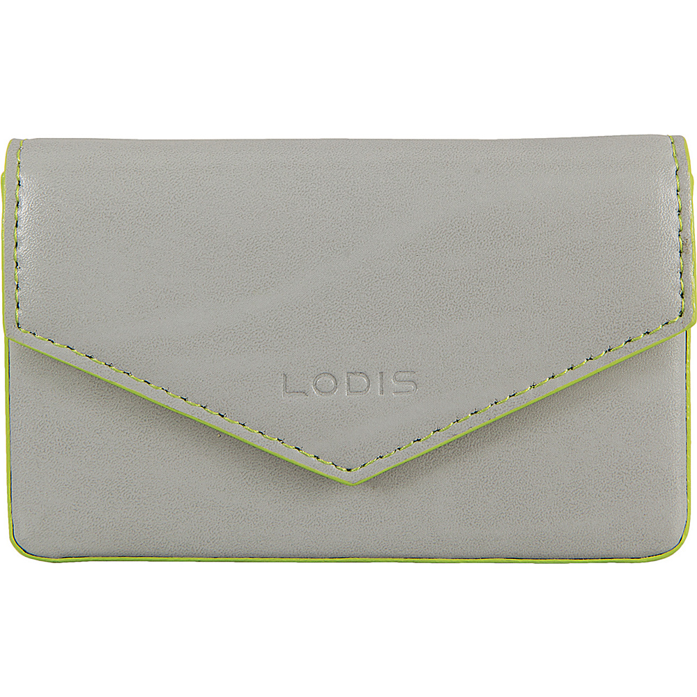 Lodis Audrey Premier Maya Card Case Dove/Lime - Lodis Womens SLG Other - Women's SLG, Women's SLG Other