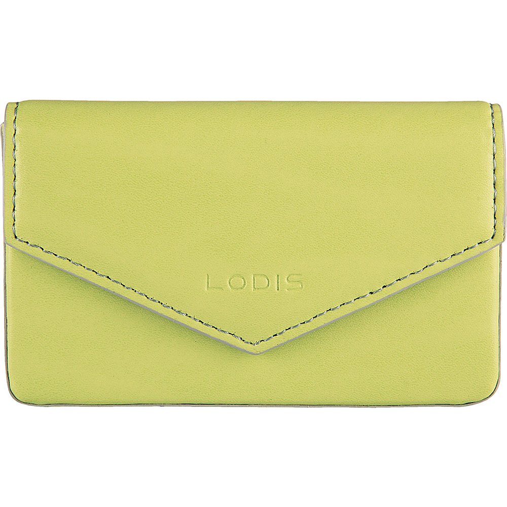 Lodis Audrey Premier Maya Card Case Lime/Dove - Lodis Womens SLG Other - Women's SLG, Women's SLG Other