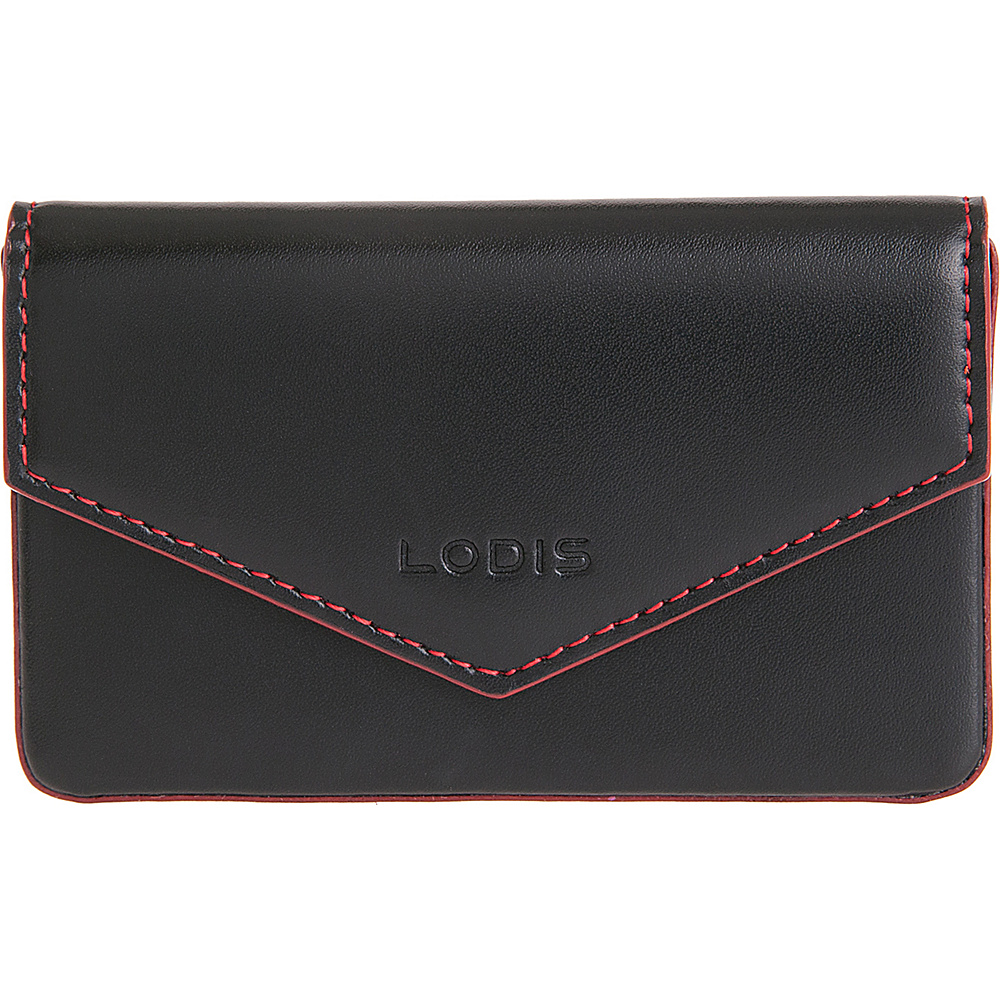 Lodis Audrey Premier Maya Card Case Black Red Lodis Women s SLG Other