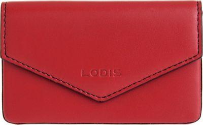 Lodis Audrey Premier Maya Card Case Red/Black - Lodis Women's SLG Other