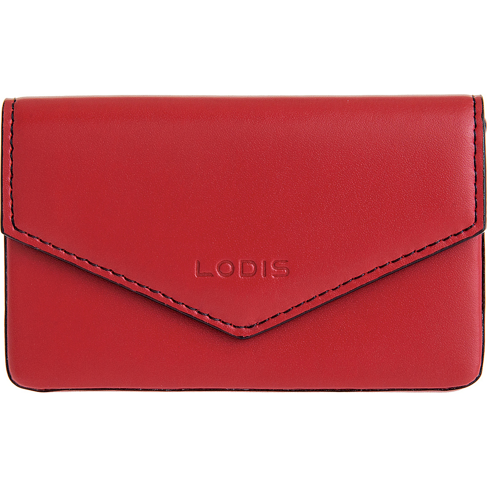 Lodis Audrey Premier Maya Card Case Red Black Lodis Women s SLG Other