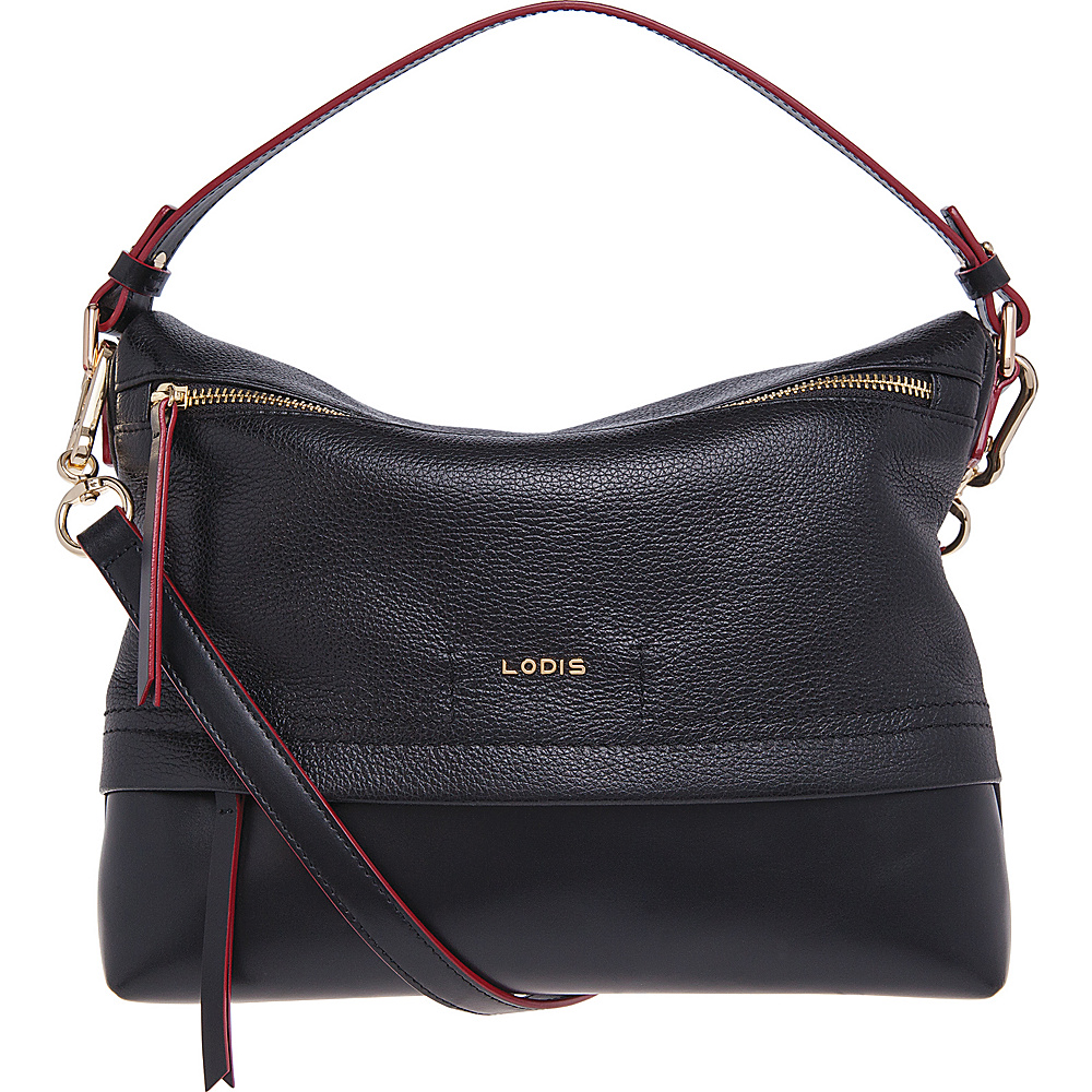 Lodis Kate Serina Hobo Black Lodis Leather Handbags