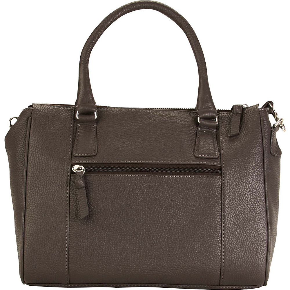 Hadaki Valerias Satchel Shale Gray - Hadaki Leather Handbags - Handbags, Leather Handbags