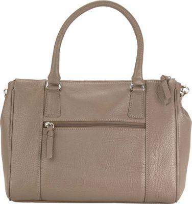 Hadaki Valeria's Satchel Taupe - Hadaki Leather Handbags